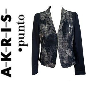 AKRIS PUNTO abstract print blazer Size 8